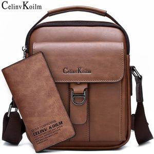 Celinv Koilm Brandom Новый мужской Плечо Сумка Messenger Высококачественные Кожаные Сумки Crossbody Для Мужчины Бизнес Повседневная Мода Tote Q1127