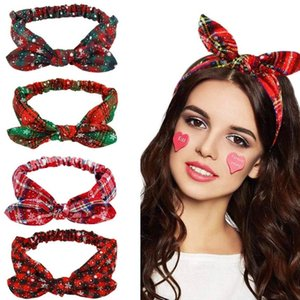 Fashion Cloth Hair Bands For Women Christmas Gift Party Cloth Headband Bow Knot Hair Accessories Wash Face Hair Band DWF3311