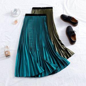 Gigogou largo primavera verano mujeres tutu faldas de la cintura alta falda de tul midi femenina elegante mujer a-line falda casual T200324