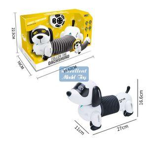 EMT QT1 RC ROBOT DACHHUND Hundespielzeug, Touch Control, Sing, Lichter, Intelligente Programmierung, Smart Follow, für Weihnachtskind-Geburtstagsgeschenk, verwenden Sie