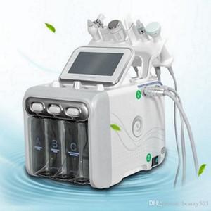 Pequeña burbuja 6 en 1 H2O2 Hydrogen Oxygen Jet Máquinas faciales de belleza Hidrógeno Pequeña burbuja con mango de RF Mejora de la máquina de belleza facial
