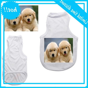 50pcs Sublimation Blank White Clothing DIY Dog T Shirt for Small Pet Heat Transfer Print