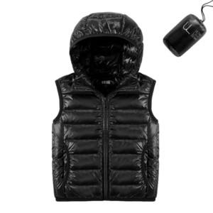 Miúdos Duck Down Colete Ultra Light Hooded 2020 Nova Outono Inverno Inverno Crianças Crianças Colete para Meninos Meninas Baby Puffer Jacket Coat C1211