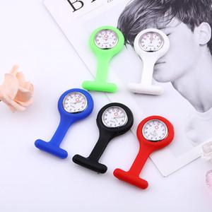 Moda nueva enfermera reloj broche tipo clip enfermera jalea fob bolsillo reloj de cuarzo luminoso puntero enfermera docotor bolsillo reloj médico
