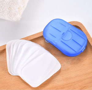 Disposable Boxed Soap Paper Portable Aromatherapy Hand Wash Bath Travel Mini Soap Box Soap Base Bathroom Accessories YYBE3136