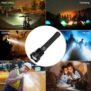 High-power Micro USB LED 30W Telescopic Zoom Rechargeable Flashlight Suitable For Camping, Climbing, Night Riding, Caving Torches