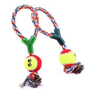 2020 New Dog Toys Cotton Rope Y Word Single Ball Pet Dog Training Toys Durable Small Or Big Tennis Toy Free Shipping