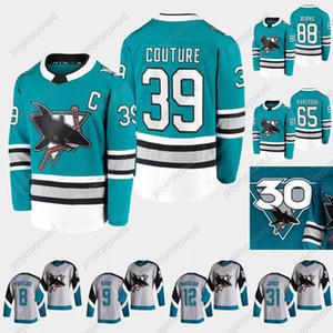 San Jose Sharks 2020-21 Herança 30th Aniversário Teal Jersey Erik Karlsson Brent Burns Erik Karlsson Joe Pavelski Evander Kane Tomas Hertl