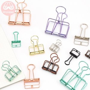8 Colors 3 Sizes Ins Colors Gold Sliver Rose Green Purple Binder Clips Large Medium Small Office Study Binder Clips Clamp