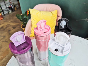 Fashion Starbucks 304 Stainless Steel Cup Gradient Colors for Men and Women Students with Covered Portable Coffee Cups