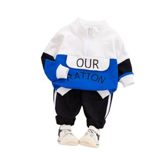 Spring 2021 baby tracksuit letter boys tracksuit girls tracksuit long sleeve Tops+trousers 2pcs set clothing boys suits kids clothes B3609