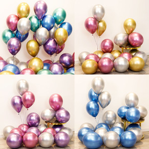 16 inch Chrome Balloons Pearl Metal Balloons for Wedding Birthday Baby Shower Graduation Party Decoration Supplies Photography Backdrops
