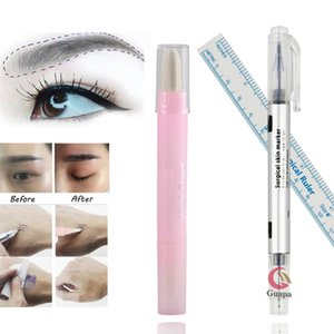 Microblading Eyebrow Shape Design Kit Permanent Makeup Marker pen Magic Eraser Remover Brush Tattoo Scribe Tool Tattoo Suppies