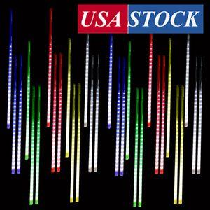 Luzes de Natal meteor chuveiro chuva chuveiro chuveiro luzes 50 cm 10 tubo azul meteoro luzes LED queda chuva