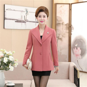 High Quality Women's Suit Jacket 2020 Spring Autumn New Fashion Long Sleeve Large Size 5XL Slim Jacket Casual Coat Mother Dress