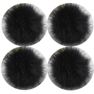 4PCS Lot 12cm Fluffy Faux Qinju Fur Ball Pompom Plush Women Bag Car Jewelry For Apparel Hat Sewing Fabric Accessories