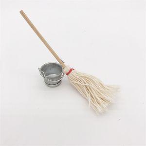1: 12 Dollhouse setting mop bucket Handmade Design CRSM