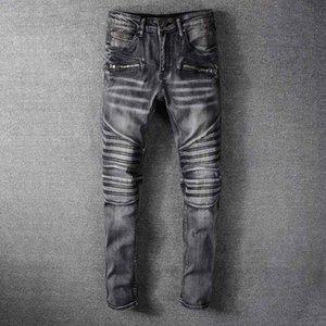 Classic mens Jeans Pocket Long Pants 2020FW High Quality Streetwear Striped letter B pattern Mens Denim Pants Asian Plus Size Wholesale