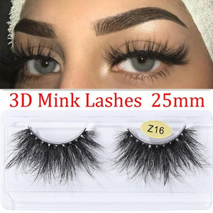 1 Pair Long 3D Faxu Mink Lash Hair False Eyelashes Dramatic Volumn Fluffies Eyelashes Thick Wispies Lash Makeup Extension Tools