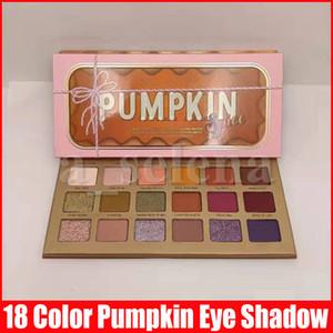 Olho maquiagem sombra 18 cores paleta de abóbora shimmer fosco sombra olho maquiagem cosméticos presente de natal
