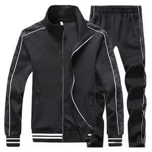 Men's Sportswear running Tracksuit Men sports Suit Jacket+pants 2 Two Pieces Clothing Set Casual Male Jogger training Sweatsuit
