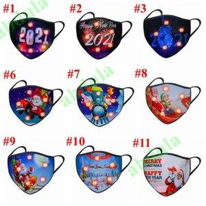 Rave 500 adet Noel Parlayan Aydınlık LED Yüz Maskesi Cadılar Bayramı Masquerade Parti Maskeleri 2021 Mutlu Yeni Yıl31F6