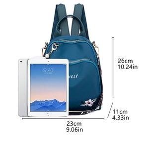 Designer-Female Zipper Backpack Waterproof Oxford Embroidery Women Backpack Fashion Women Travel Bag Ladies Large Capacity uuDo#
