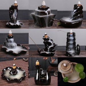 Different Styles For Choice Ceramic Backflow Incense Burner Waterfall Incense Holder Censer Use In Home Office Teahouse