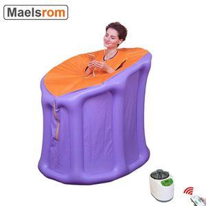 3L Steam Sauna مولد نفخ ساونا خيمة مع مضخة الهواء طوي مربع صالة سبا لتخفيف الأرق فقدان الوزن مدلك