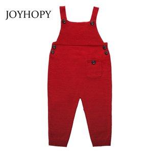 Joyhopy الأطفال أطفال وزرة الحريم السراويل بنين بنات جيب محبوك وزرة حللا ملابس الطفل حجم 1-5yrs 201112