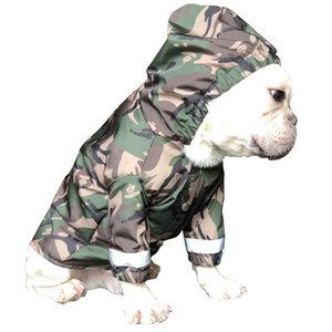 Pet Dog Raincoat Clothes For Big Dogs Camouflage Waterproof Clothes Raining Dog Rain Coat Outdoor Costumes