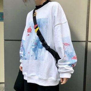 2020 New Spring Autumn Hot Sell Off-shoulder Streetwear Men Women Loose Fit O-neck Sweatshirt Oversize Casual Pullover Custom Hoodies