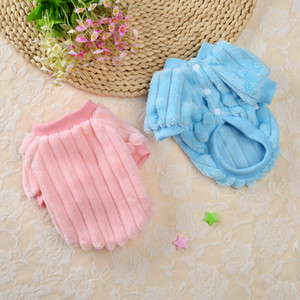 Pets Autumn Winter Clothes Snap Button Elastic Sweater Single Side Plush Dog Cats Costume Warm Casual Multi Color 8xq G2