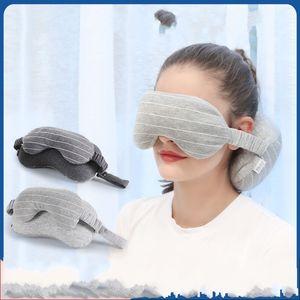 U Type Eye Mask Neck Pillow Dark Portable Fashion Eye-Shade High Quality And Inexpensive Gray Light Grays Colors 11 8yd J1
