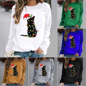 Christmas Womens T Shirt Long Sleeve T-Shirt Girls Clothing Tops Coat T Shirts Xmas Party Supplies HH9-3641
