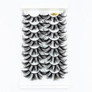 NEW 5 8 pairs 25mm fake Eyelashes 100% 3D Mink Eyelashes Mink Lashes Natural Dramatic Volume Extension False