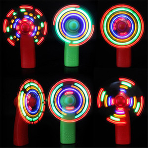 2021 mini ventilateur lumières colorées clair lumière lumineuse jouet moulin à vent petits ventilateurs enfants jouir couleur aléatoire