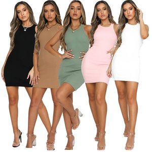 women designer tank top dress sexy bodysuit mini dress fashion panelled womens dresses casual sleeveless dress women clothes klw0279