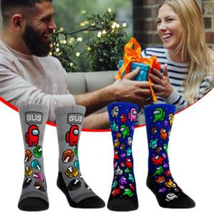 Среди нами носки взрослых детей унисекс среднее сжатие колено высокие носки для женщин девушки мужчины новинка милая среди нас плюшевых чулок DHL бесплатно
