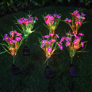 Garden Decoration Led Solar Chrysanthemum Lamp Outdoor Colorful Light Solar Small Wild Flower Landscape Courtyard Lawn Lamps