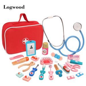 Wooden Pretend Play Doctor Educationa Toys for Children Medical Simulation Medicine Chest Set for Kids Interest Development 0010