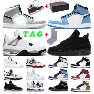air jordan retro 1s 4s  Üçlü S Sneaker erkekler Kadınlar için Rahat Siyah pembe beyaz Spor sneakers Boyut 36-45 moda Artırmak