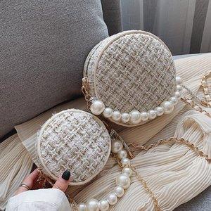 Сумки на ремне Элегантные женские круглые жемчужины сумка 2021 мода высококачественный шерстяной женской дизайнерской сумки цепной цепочек
