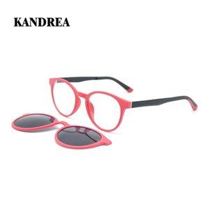Occhiali da sole Kandrea Ulmem Round Magnetic Clip Donne Donne di lusso Occhiali da sole Retro Eyewear per uomo Vintage UV400 Occhiali da vista