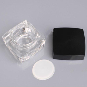5 10g Square Cube Acrylic Jar Clear Cream Pot Mini Cosmetic Container Makeup Sample Jar Packaging Bottle F20212141
