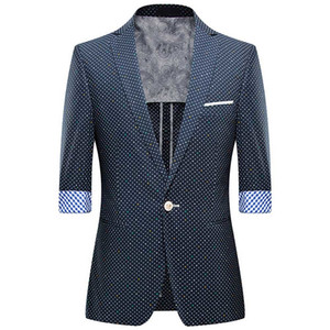 2021 New Mode Summer Suit Casual Male 3 4 Korean Sleeve Thin Blazer Jacket Man Clothes Sw3b