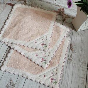 여성 손수건 고품질 부드러운 면화 kerchief 일본 손 디자인 25 * 25cm 포켓 사각형 작은 스카프 빈티지 hankies dwc6497