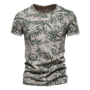 Negizber 2021 Hawaii Style 100% coton T-shirt Hommes Chemise à imprimé O-Cou Hommes Hommes Casual Hommes Vêtements Été Haute Qualité Hommes T-shirts 210301