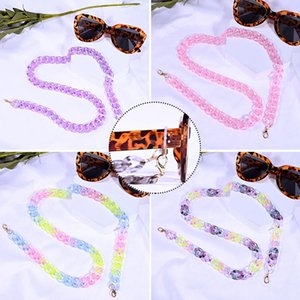 Sunglasses Frames Elegant Solid Color Rainbow Glasses Chain Comfortable Durable Acrylic Neck Strap Lanyard Accessory