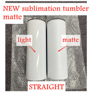 NEW Matte Straight Sublimation tumblers 20oz with straw stainless steel water bottles coffee mugs double insulated cups vacuum beer cups A13